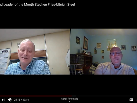 Ulbrich Lean Manager Stephen Fries: a Virtual Benchmarking Opportunity for LEAN Leaders