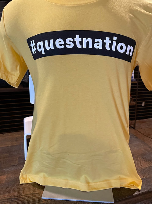 """Yellow """"Quest Nation"""" T-Shirt"""