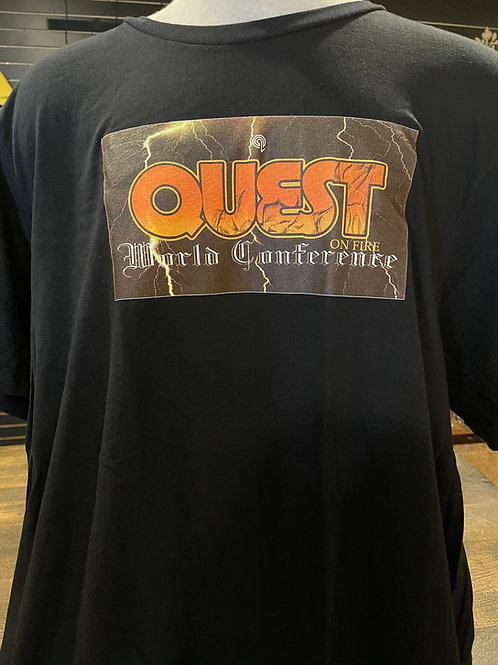 "Black ""Quest World Conference"" T-Shirt"