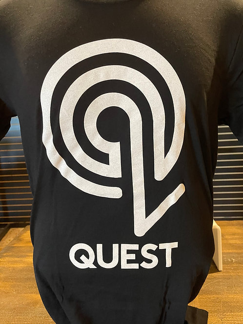 "Black ""My Quest"" T-Shirt"