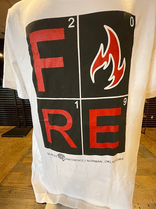 "White ""Fire"" Quest T-Shirt"