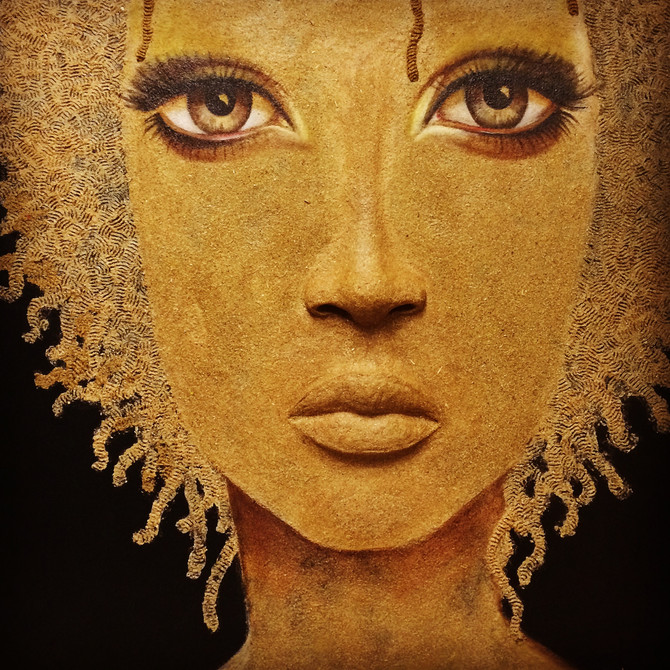 Check my new sculpted painting. Big Brown Eyes.