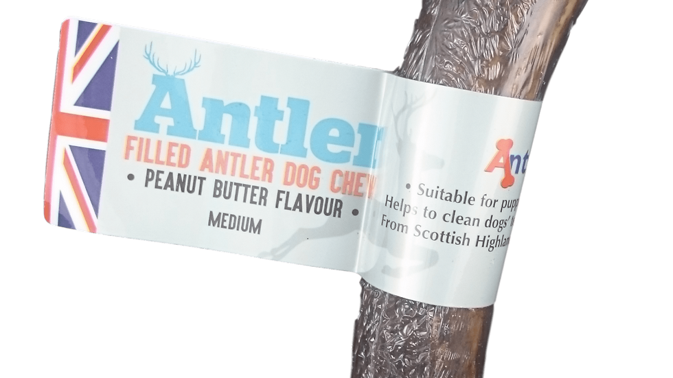 Peanut butter filled medium antler