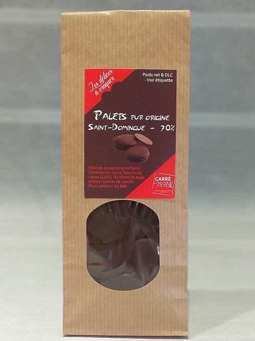 Palets chocolat noir 70%