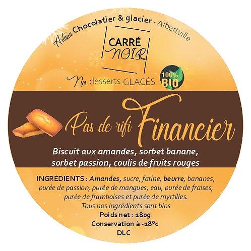Financier sorbet banane et passion bio