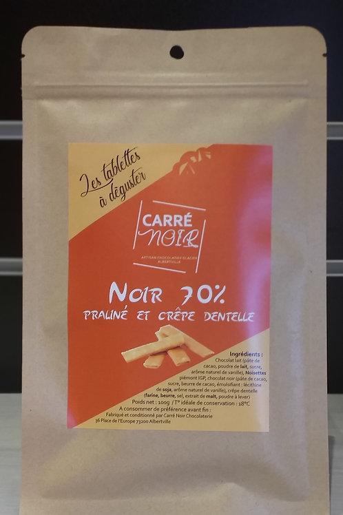 Praliné crêpe dentelle - Noir 70%