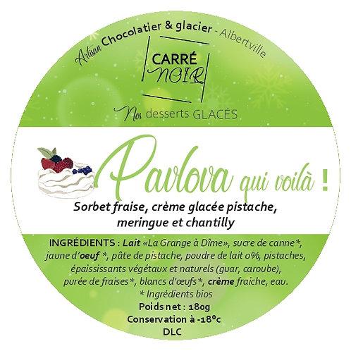Pavlova fraise et pistache