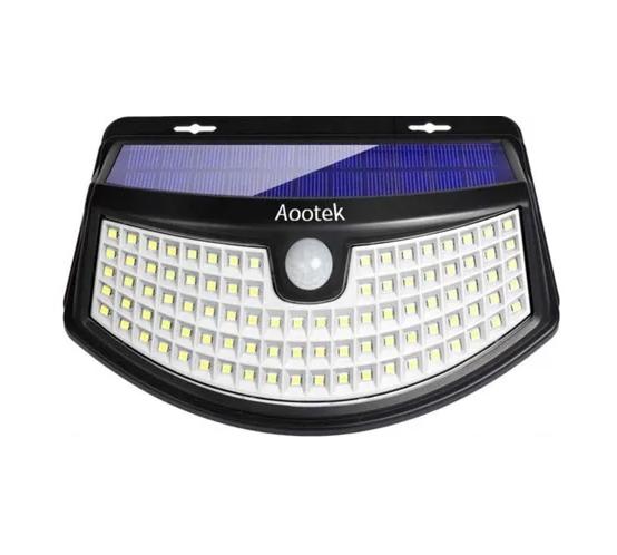 Luz con panel solar y sensor de movimiento