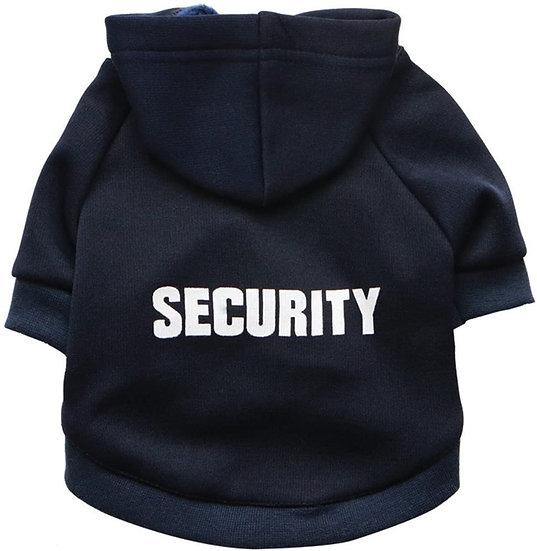 """Sudadera con capucha para perro """"Security"""""""