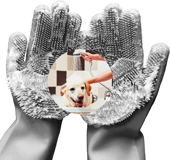 Guantes para baño de mascotas