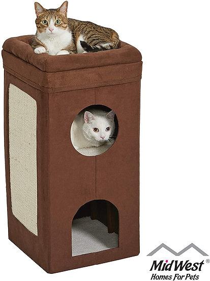 Casa para gatos de 3 pisos