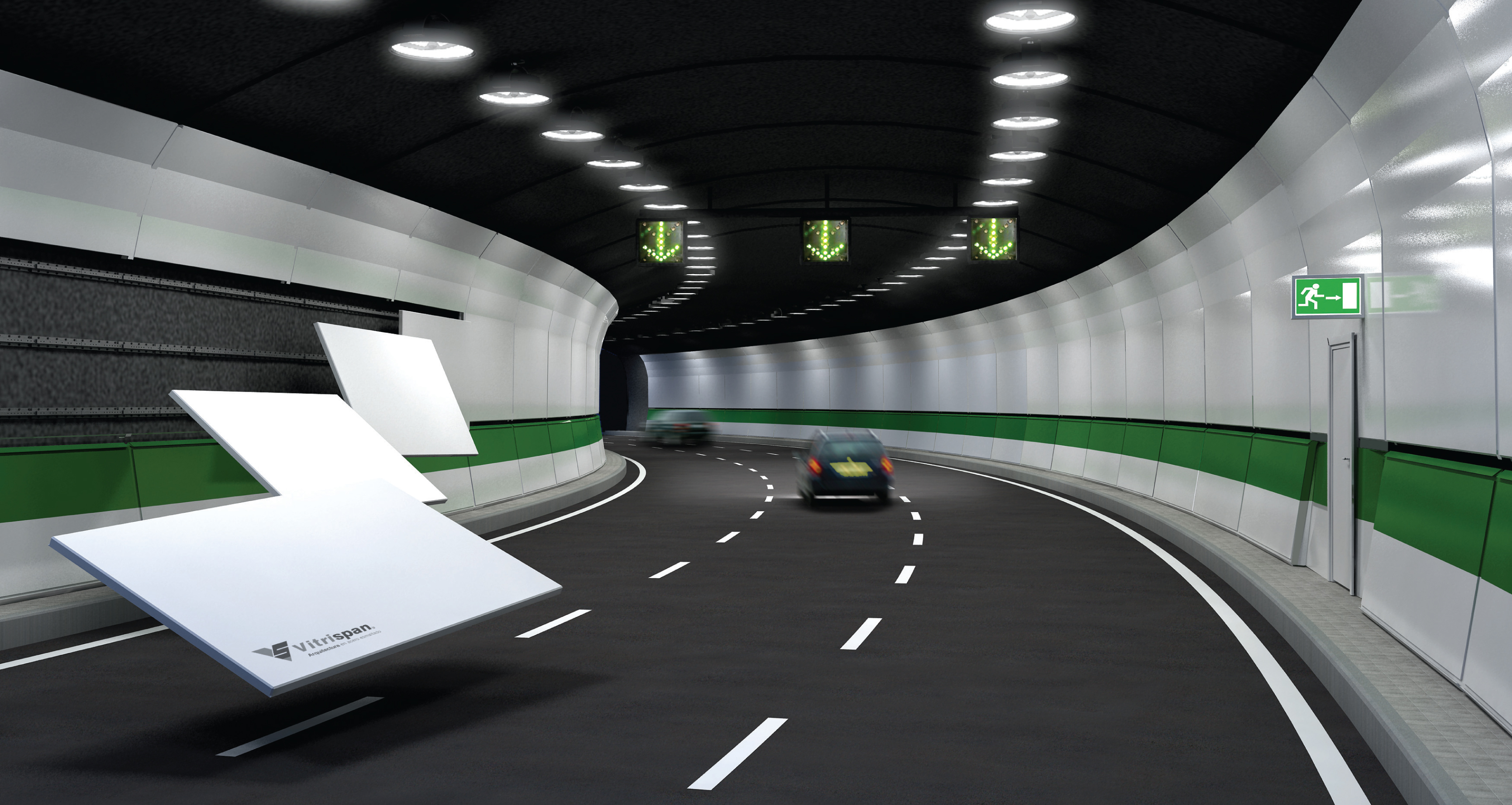 Vitreous Enamel Road Tunnels