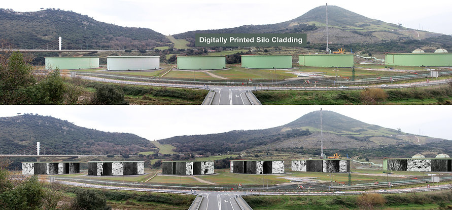 Digitally Printed industrial cladding in harmony with countryside