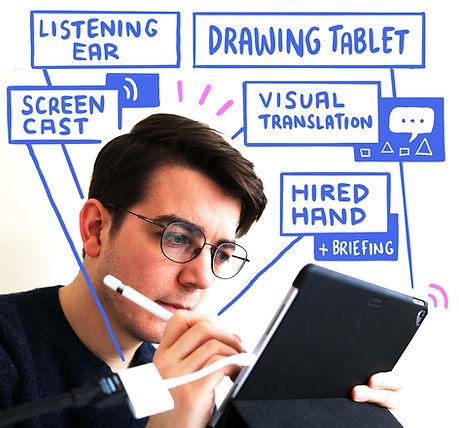 Pete Morey Virtual Scribing Live Illustr