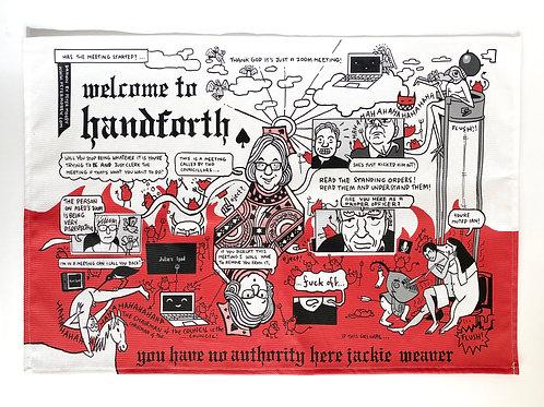 Welcome to Handforth teatowel