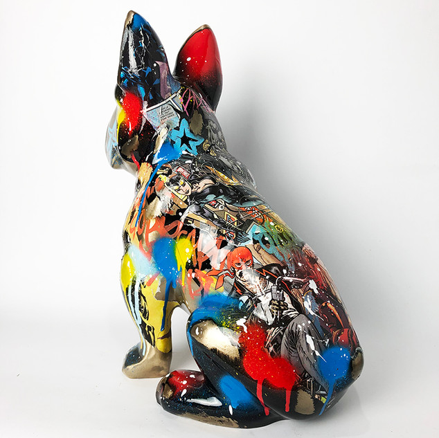 SCULPTURE DOG BRONZE