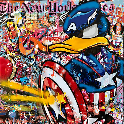 Captain Duck 80 X 80 CM