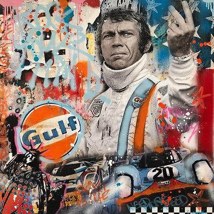 Steve Le Mans 1971 80 X 80 cm