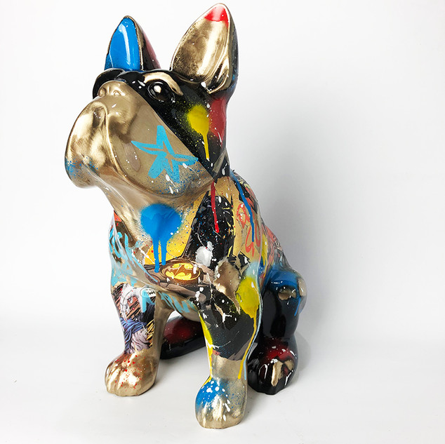 SCULPTURE DOG BRONZE NOVARINO
