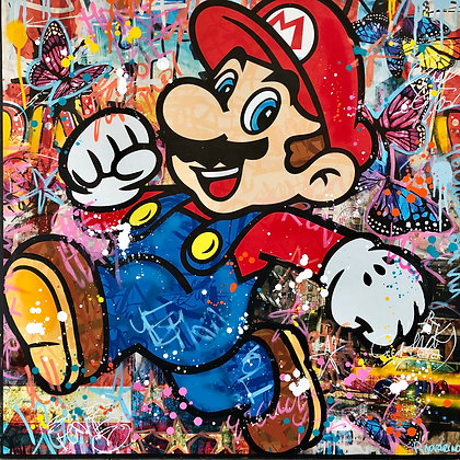 Jumping Mario 80 X 80 CM