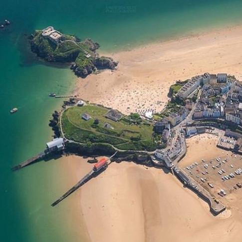 Aerial Shot of Castle mound