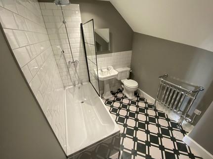 Bespoke black and white bathroom