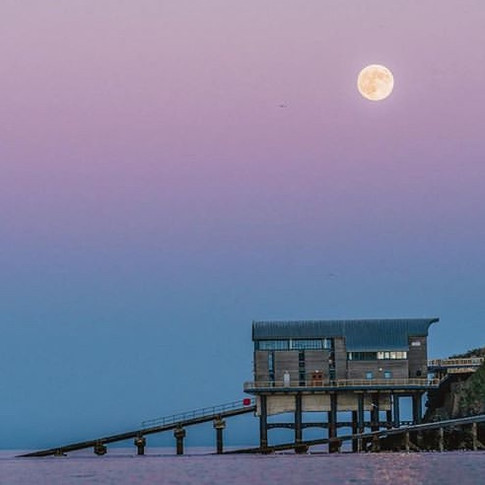 Moonlit Lifeboat House