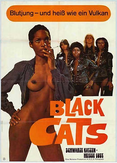 The Black Alley Cats - German Movie Poster
