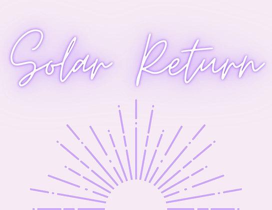✰ Solar Return Reading✰