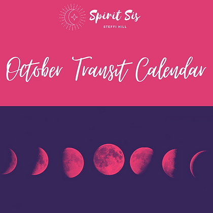 October Transit Calendar