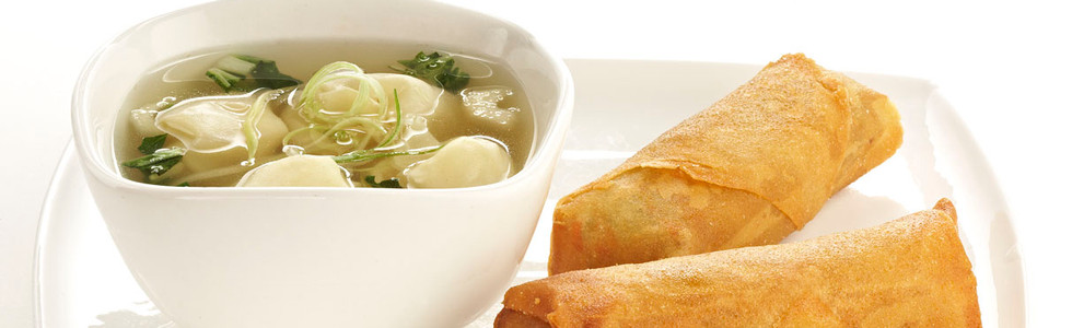 SOUP + SPRING ROLLS