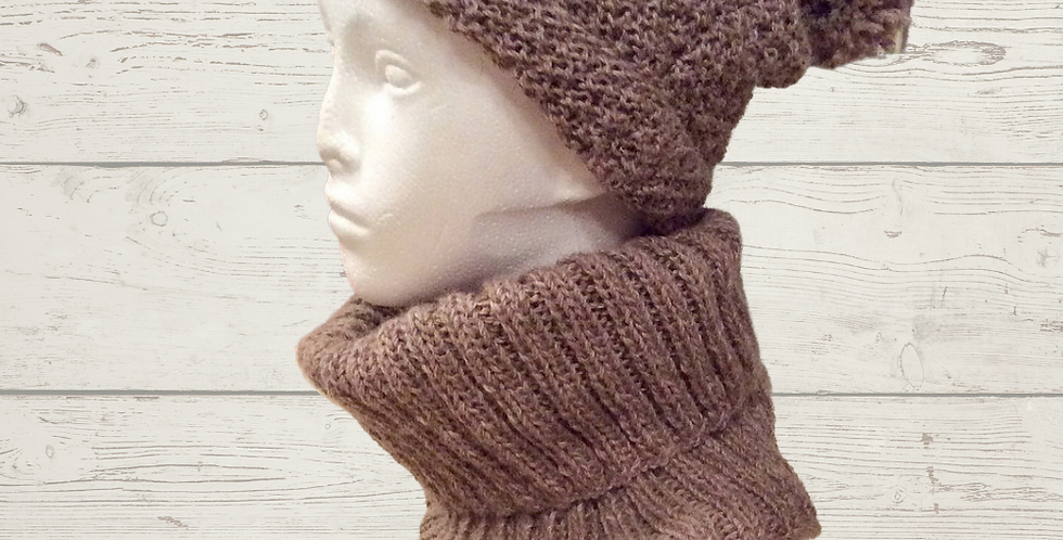 Slouch Hat, Cowl, and Wrist warmers