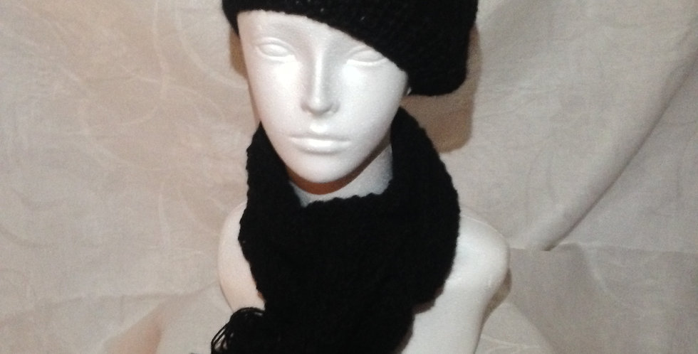 Alpaca Beret And Scarf