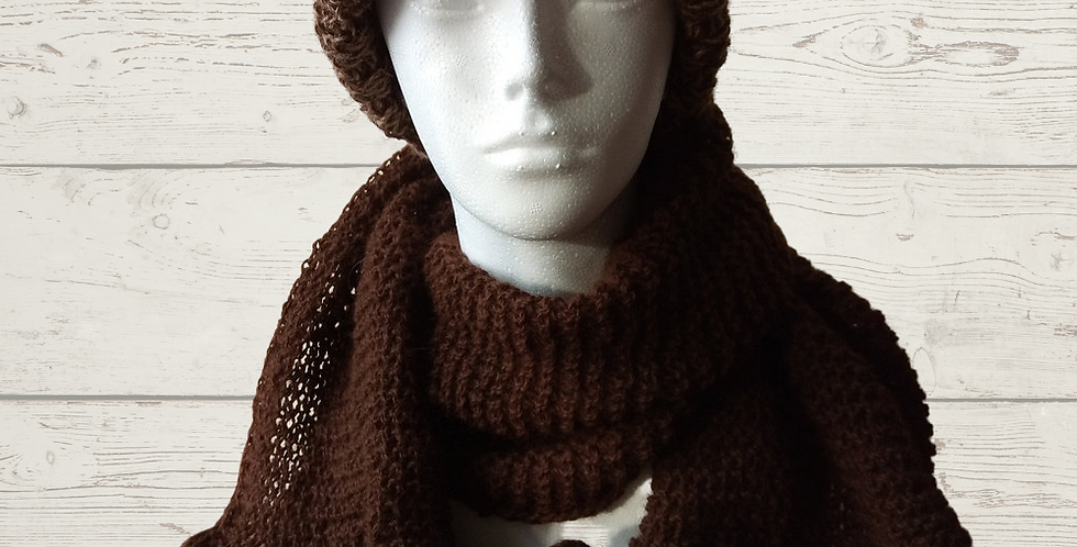 Alpaca Tweed Effect Hat And Scarf