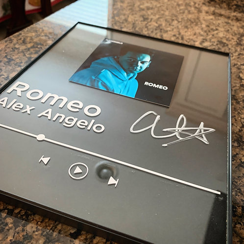 Alex Angelo CUSTOM autographed framed music player single