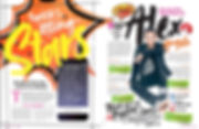 Popstar Magazine article on Alex Angelo