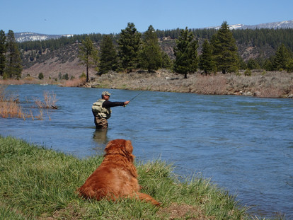 Fly Fising on The Truckee River During High Flow