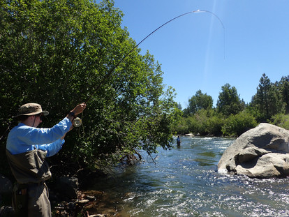 Fish On at Truckee River