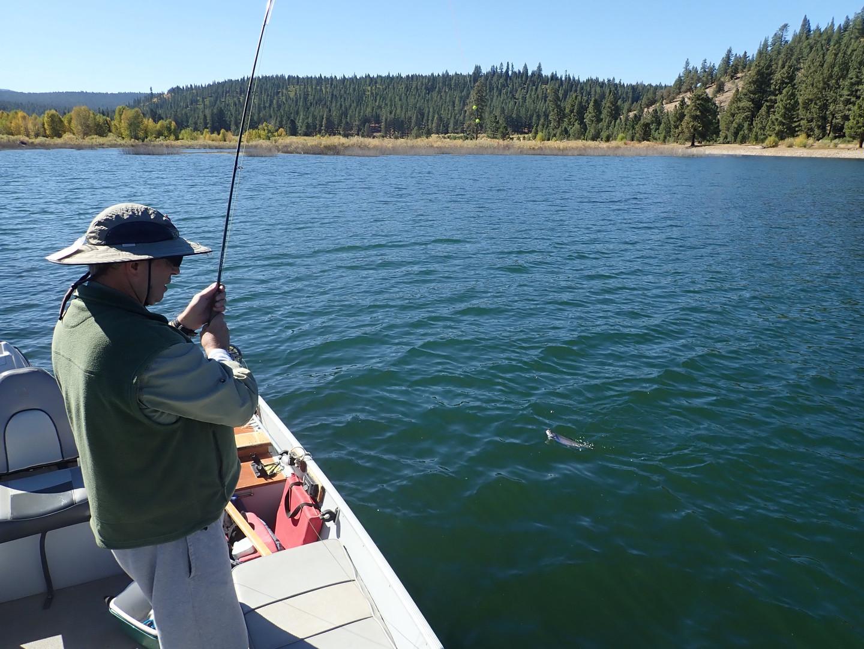 Fishing on Stampede Rervoir