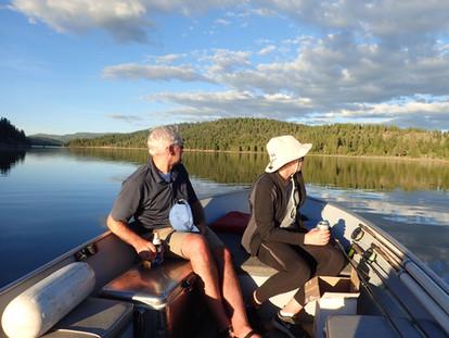 Enjoying the Views at Stampede Reservoir