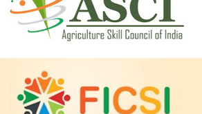 Accreditation with Agriculture Skill Council of India & Food Processing Skill council of India