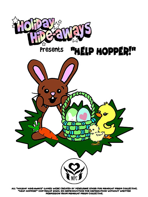 "Holiday Hideaways - Easter ""Help Hopper!"" seek & find printable download game"