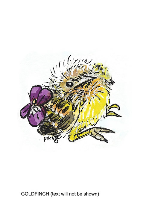 """Baby Birds Collection """"Chirps"""" watercolor art print - 5""""x7"""""""