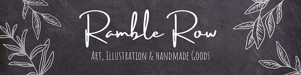 Ramble Row Etsy shop banner
