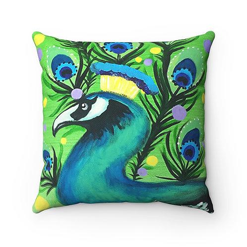 Funky Peacock bird Pillow