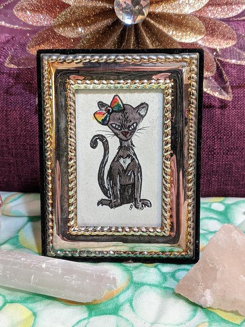 Love Kitty watercolor Tiny Frame
