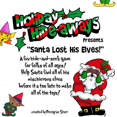 Holiday Hideaways -Black Santa Lost His Elves printable download game