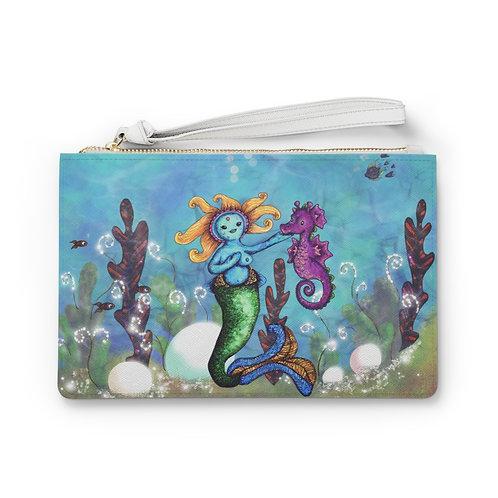 Lodian Mermaid & Seahorse clutch bag