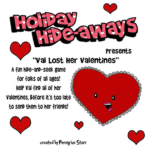 Holiday Hideaways - Valentine's Day seek & find printable game
