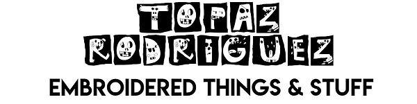 logo for Topaz Rodriguez Etsy shop